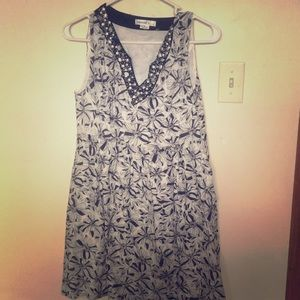 Kensie Dresses Floral Black & White Dress, Size 10